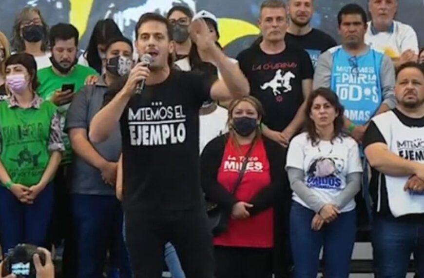 """Un miembro de La Cámpora llamó a combatir a los medios que """"le meten mierda en la cabeza a la gente"""" en un acto junto a Máximo Kirchner"""